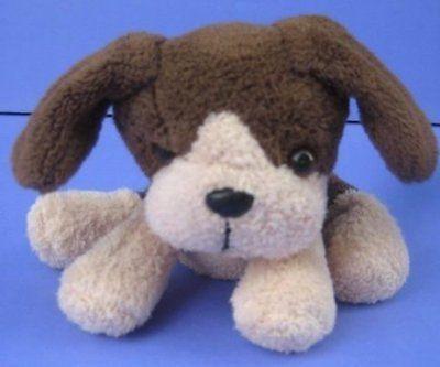 "5"" Mini PUPPY DOG Brown Cream Bean Bag Plush Pacific Craft Stuffed Toy"