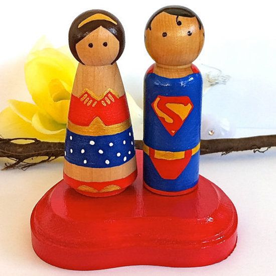 Give Your Big Day a Comic Book Spin With Superhero Cake Toppers