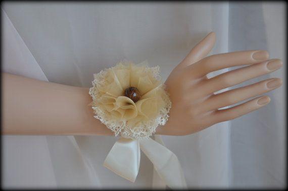 Shabby chic cream flower.Shabby Chic Chokershabby by Blackpassion