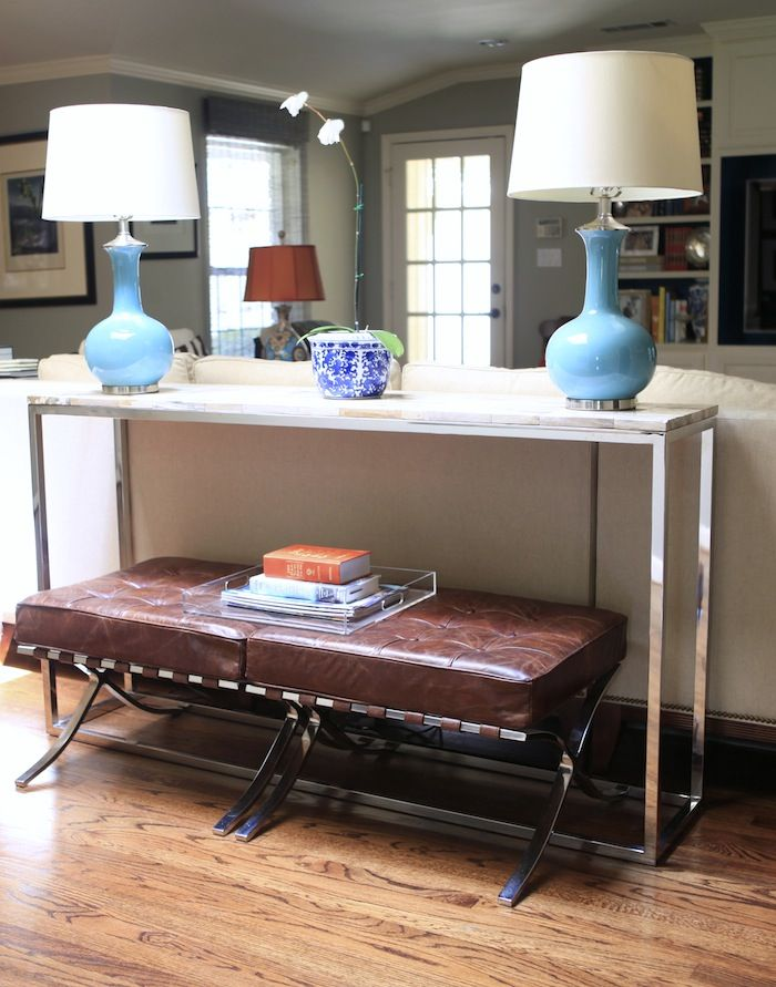 Knight Moves: How to Hide Lamp Cords   Marble top coffee ...