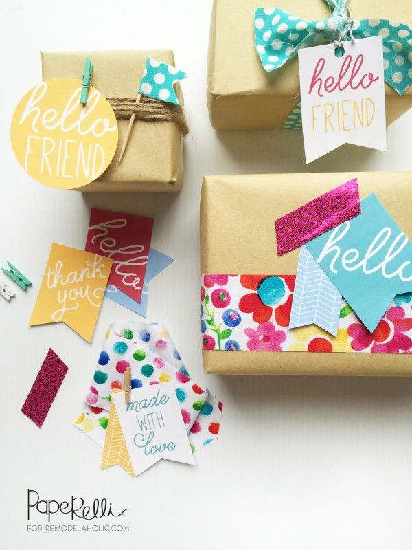"""Cute and easy gift tags - free printable! Perfect for those """"just because"""" kind of gifts for bad days or simple thank you gifts"""