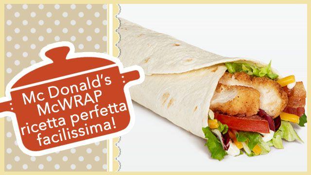 McGraw facilissimi, il gustoso rotolo di Tortilla con pollo croccante, accompagnato da formaggio cheddar, cipolla, insalata, pomodoro e salsa Wrap.