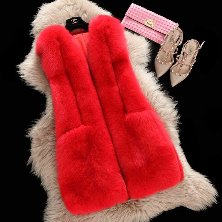 Winter hot sale fur vests dyed color soft fox fur vest for women winter vest fashion coat factory direct NE017