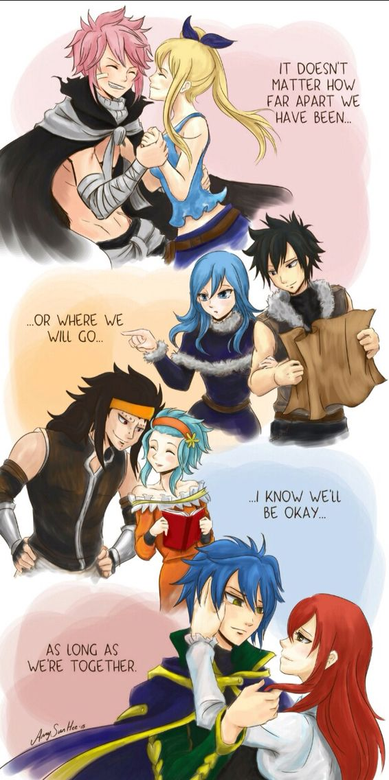Fairy Tail couples. MY FAVORITE SHIPS