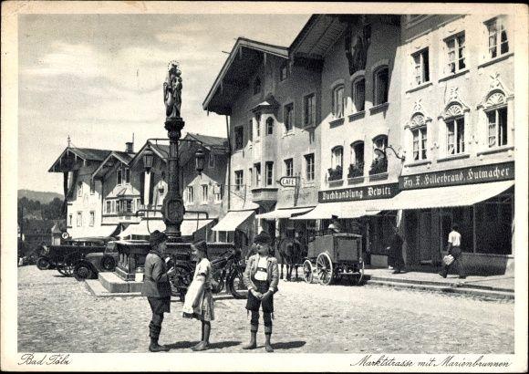 Ansichtskarte / Postkarte Bad Tölz im Isartal Oberbayern, Marktstraße mit Mari…