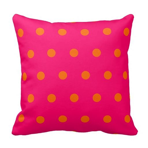 Hot Pink And Orange Throw Pillows : 10 best images about Hot Pink Throw Pillows on Pinterest Hot pink, Damasks and Monogram pillows