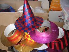Sombreros de cotillon paso a paso - Imagui