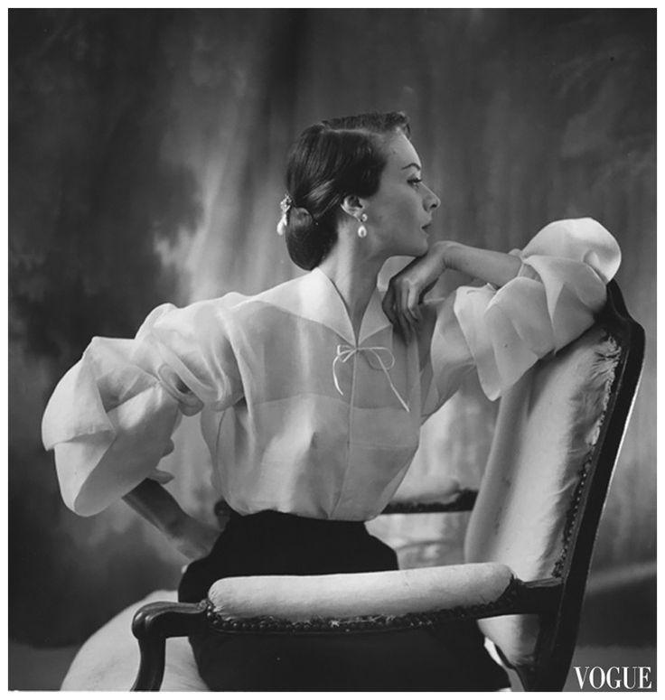 Ciao Bellissima - Vintage Glam; Model  Gigi Terwalgne wearing Lanvin, photo by Henry Clarke for Vogue 1951