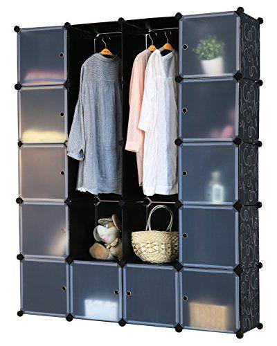 Fancy Regalsystem Steckregal Schrank Regal Kleiderschrank Garderobe x x cm Schwarz Dekor