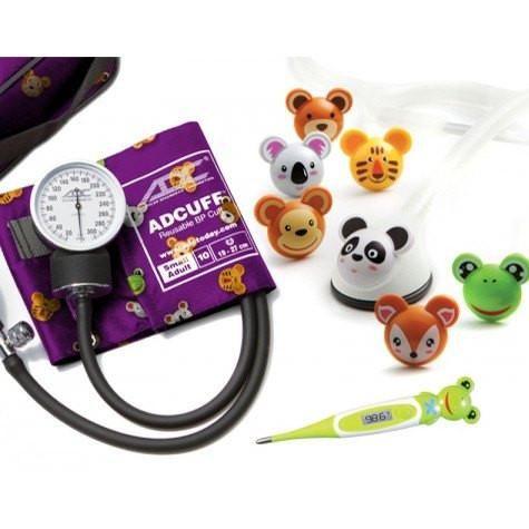 Adimals Pediatric Stethoscope, Thermometer & Blood Pressure Kit