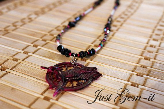 Hungergames Catching Fire handcrafted necklace by Justgemit, $21.00