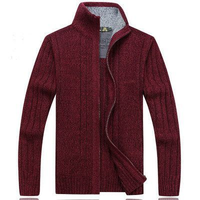Winter Men Cardigan Thick Cashmere Sweater