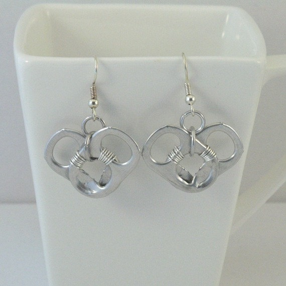 heart pop tab earrings