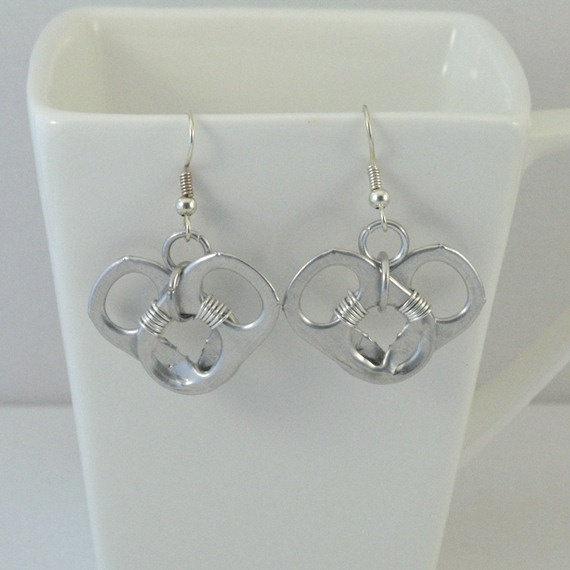 heart pop tab earrings