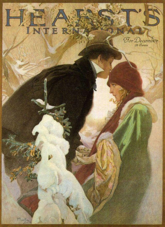 Alphonse Maria Mucha (Czech painter) 1860 - 1939 Heart's Magazine Cover, 1921