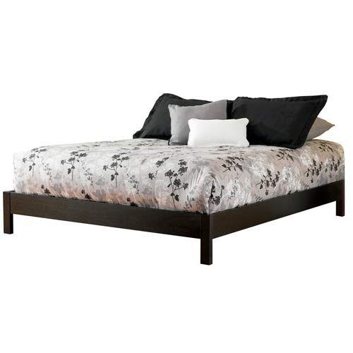 fashion bed group murray black queen platform bed frame