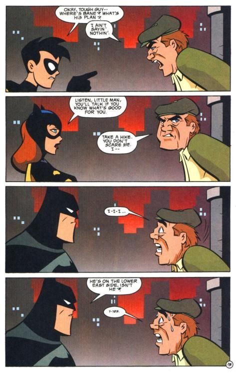 """Robin and Batgirl need to work on their Batman Face"" I don't know who they are, but whoever said what I just put in quotes is awesome, and deserves a high-five."