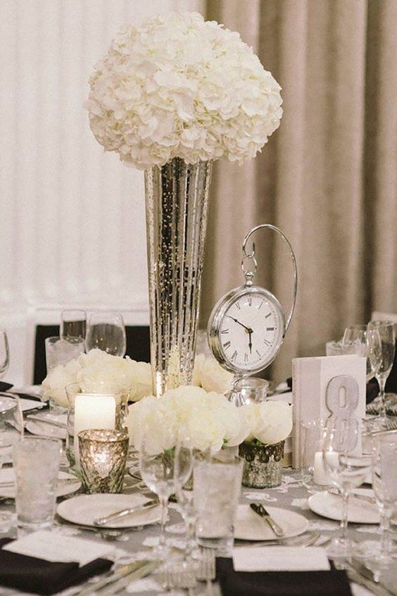 white wedding centerpiece ideas via stacy able photography