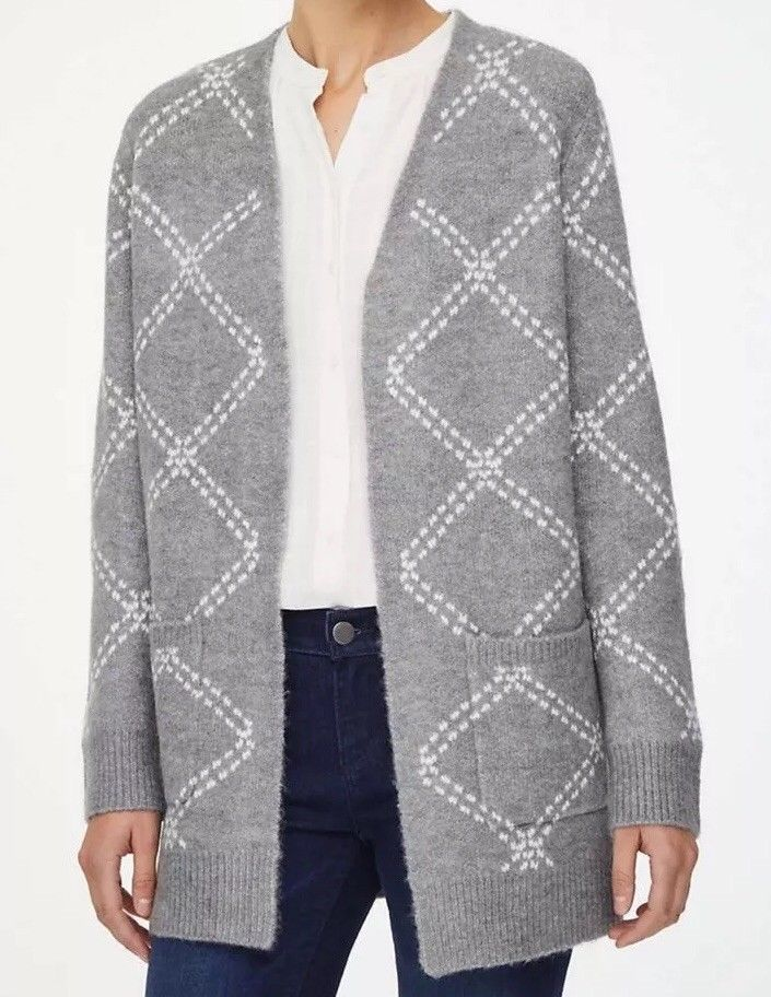 0c1adc2cb70 NWT NEW ANN TAYLOR LOFT FACTORY OPEN CARDIGAN SWEATER COAT GRAY ...
