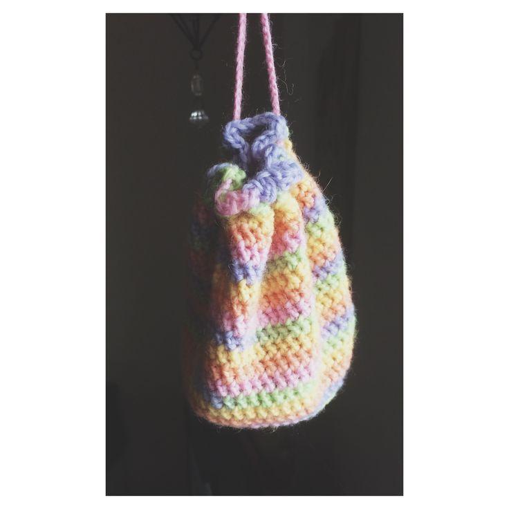 Little crochet bag for dice.❤️