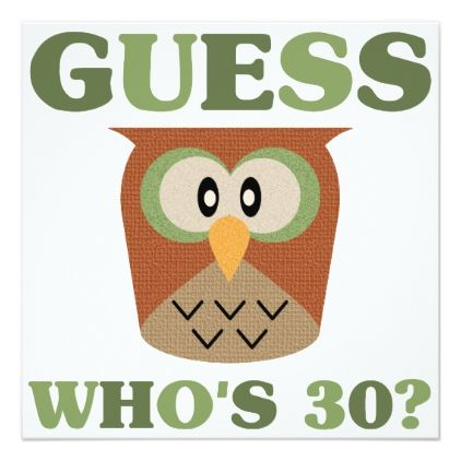 #Guess Who's 30 Card - #birthdayinvitation #birthday #party #invitation #cool #parties #invitations