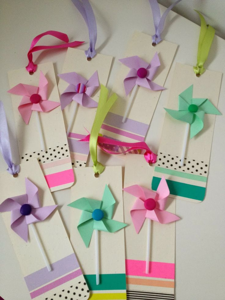 Atelier Verde Menta: Invito segnalibro girandola / Pinwheel bookmark invitation