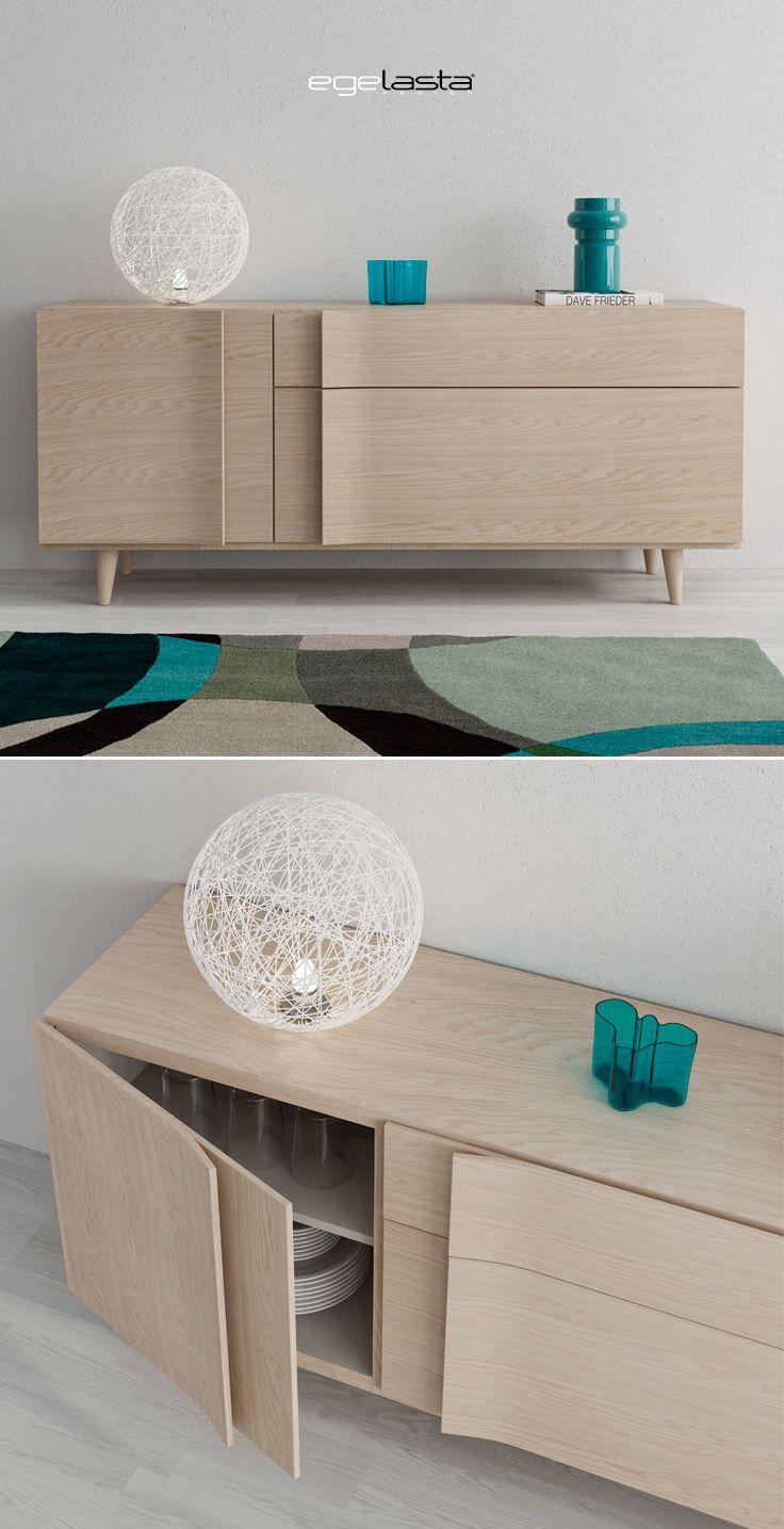 Muebles · egelasta · live · mueble · madera · moderno · aparador con patas cónicas · roble nórdico