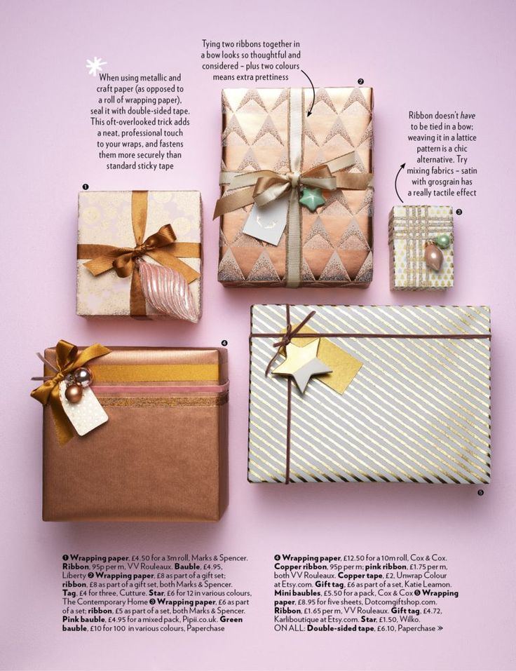 New Christmas wrapping ideas 2016  These wraps and festooneries are our favourite Christmas things  For more inspiration see the December issue of Red