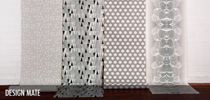 Design Mate - Robin Sprong Surface Designer.  The Design Mate Collection for Robin Sprong Wallpaper is a stylish mix of prints, largely inspired by nature but translated into a bold and graphic aesthetic.
