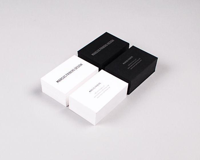 Marcus Friberg Design - Letterpress business cards