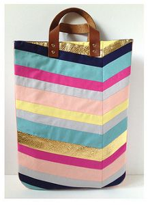 Chevron-Inspired DIY Purse- Great instructions