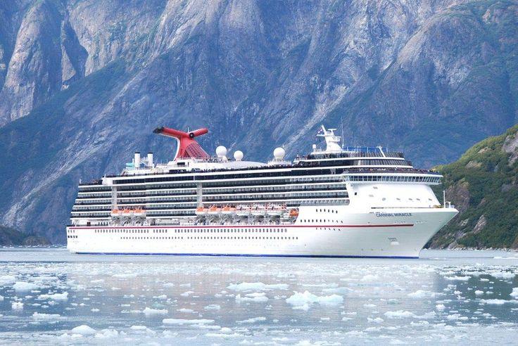 The Carnival Miracle looks beautiful cruising through Alaska's fjords