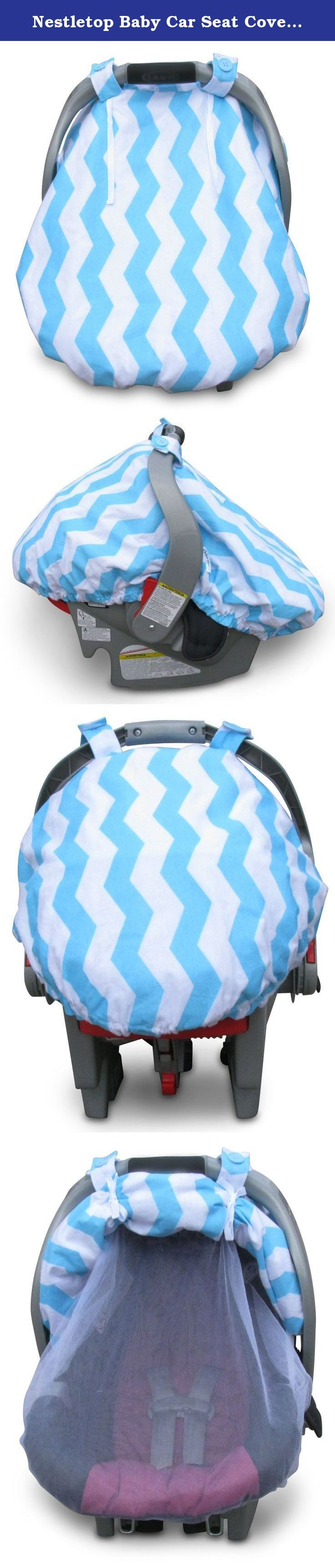 Nestletop Baby Car Seat Cover By Colwares - High Quality Protective Cover For Wind, Rain, Snow, Debris, & Pests (Light Blue Stripes). Multifunctional & Efficient-The Best Car Seat Cover Can Finally Be Yours! If you want to keep your baby fully protected from any possible threat while being in their car seat, this is the product you need. A cover that is specially designed for your little baby's car seat! Learn Why This Product Is Perfect For Every Parent Below: •Features an ideal interior...