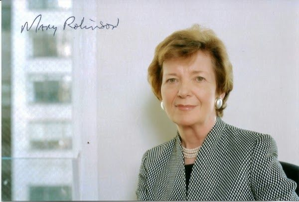 Mary Robinson - First Female President of Ireland autograph