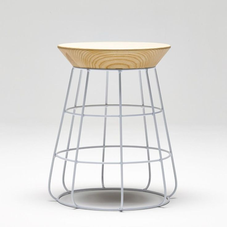 Sidekick Low Stool By Timothy John Design | 4 Steel Base Colors, 2 Solid Ash