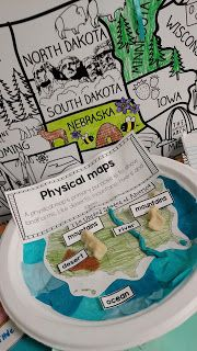 Making a physical map --Geography Interactive Notebook social studies ideas and activities for third grade from simply sprout