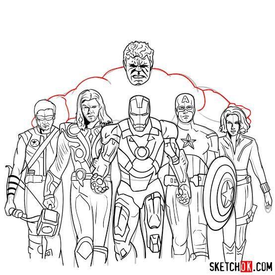 image result for avengers draw  avengers drawings