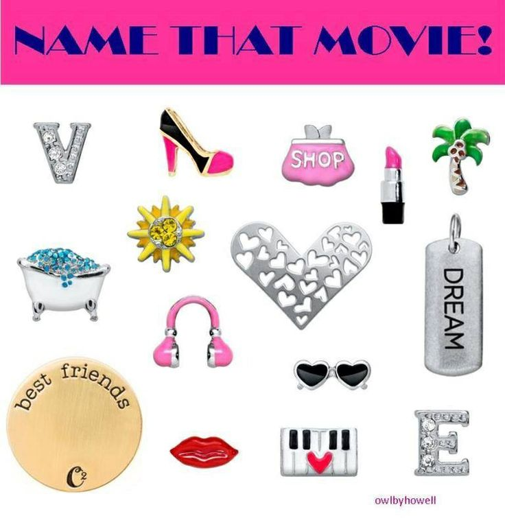 Name the movie! Origami Owl 2014 Spring Collection is now available so go check it out @ Ashley website : www.asaylor.origamiowl.com  Thanks!