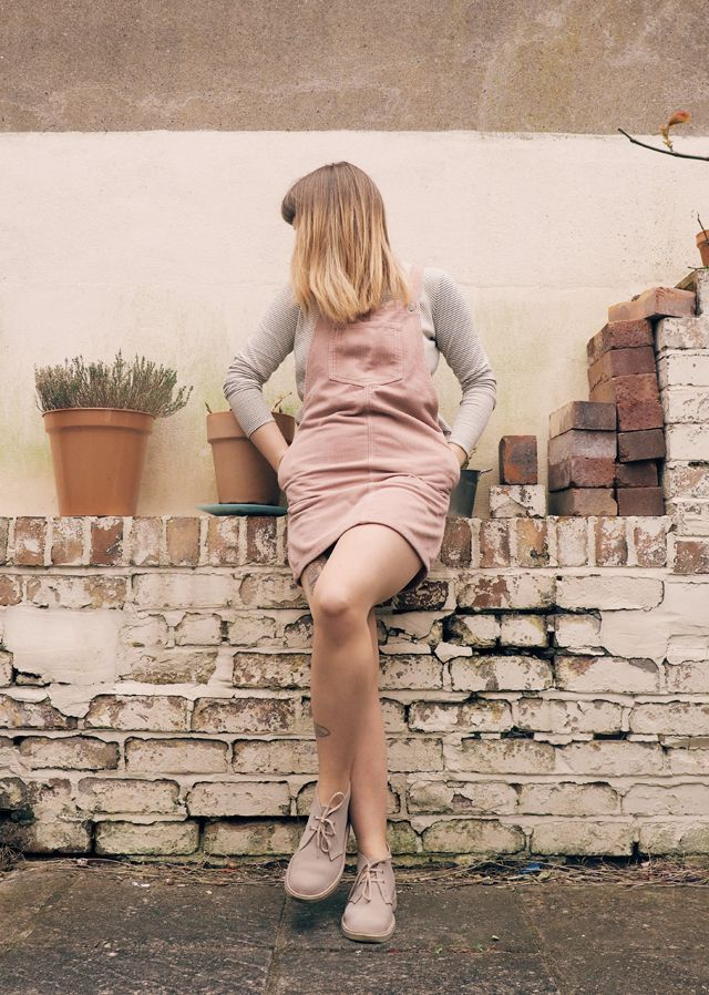 being little • british fashion & lifestyle blog.: desert boots and dungarees.
