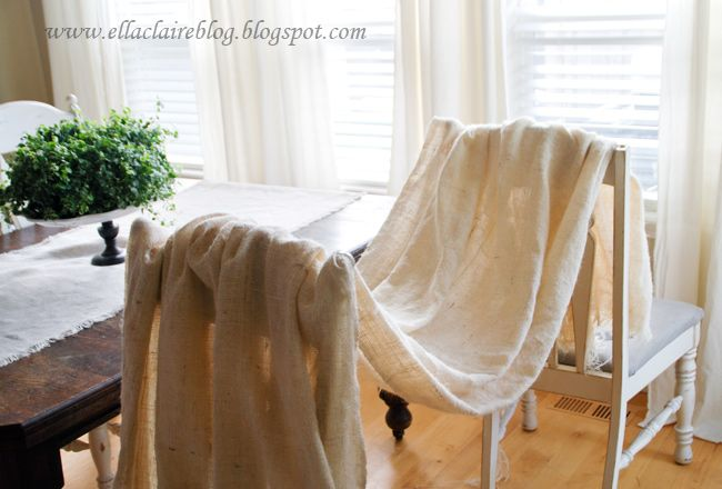 How to wash and cut burlap by Ella Claire | See more about Burlap.