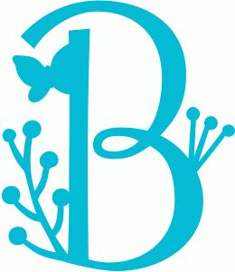 Silhouette Online Store: spring letter b