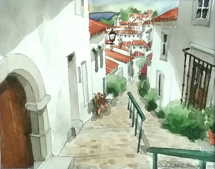 Marvão - watercolour - Daniel