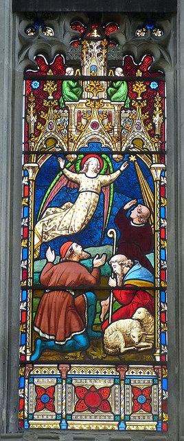 Church - St Mary's Adderbury 140406 [East window - detail] 02 by maljoe, via Flickr