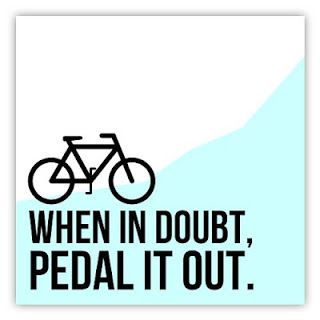 Thoughts & Rants From The Cyclist's Seat: When in doubt, pedal it out...