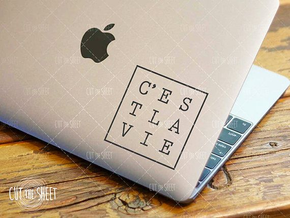 C'est la vie  Laptop Decal  Laptop Sticker  Car by Cutthesheet