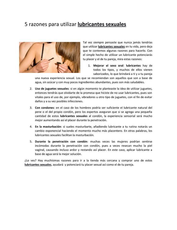 #SexShop en el #Afrodisiaco 5 razones para utilizar #lubricantessexuales