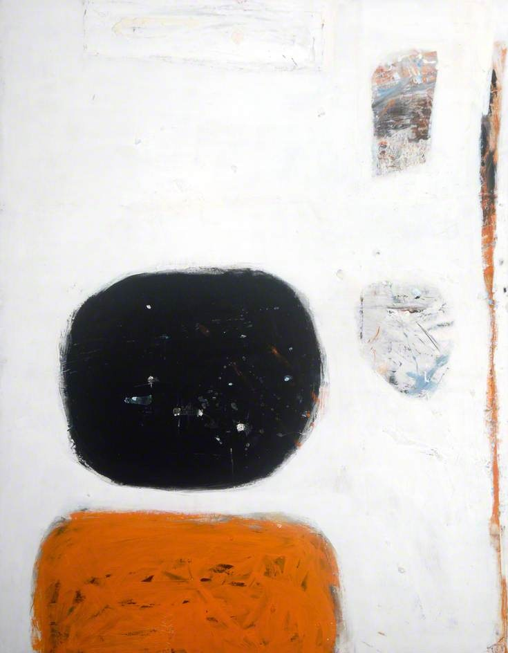 William Scott: Orange, Black and White, 1960