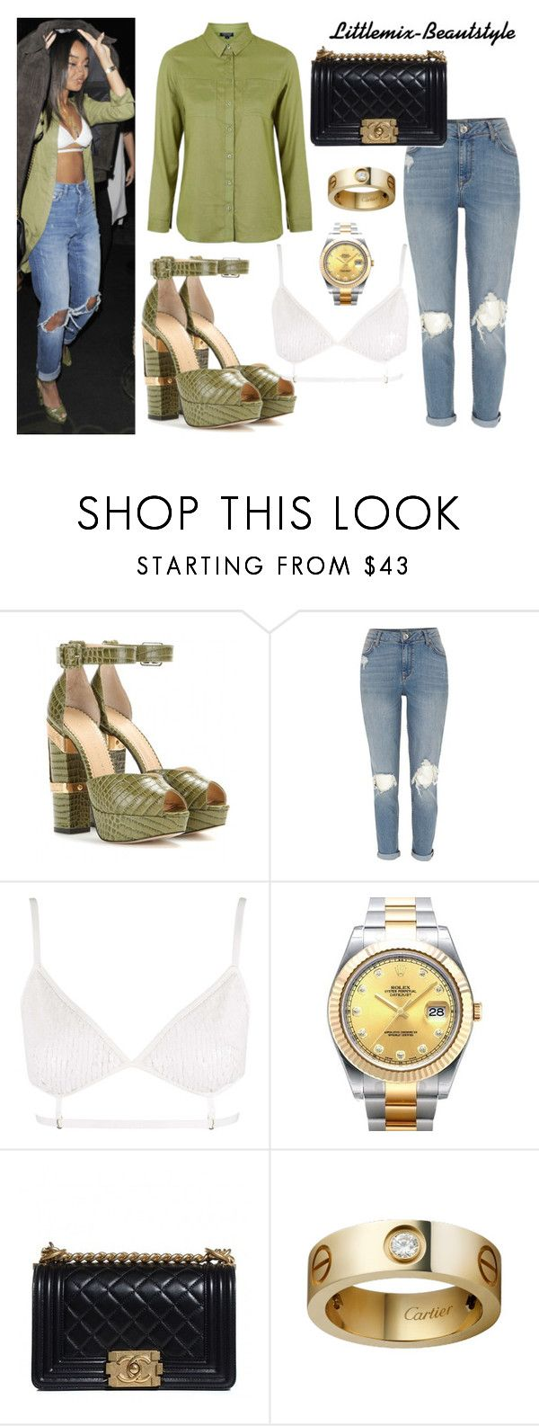 """""""Leigh at Mahiki Nightclub - January 16, 2016"""" by littlemix-beautstyle ❤ liked on Polyvore featuring Charlotte Olympia, River Island, Topshop, Rolex, Chanel, women's clothing, women's fashion, women, female and woman"""