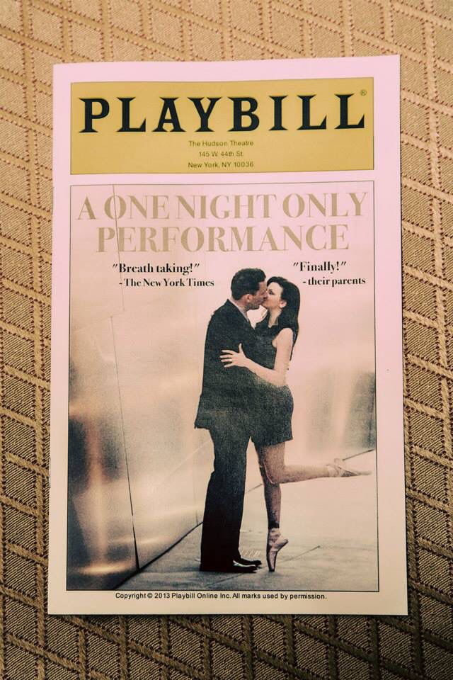 Our playbill wedding programs.