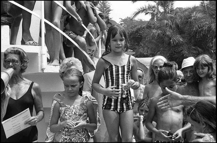Stéphanie lors du championnat de natation de Monte Carlo en 1972